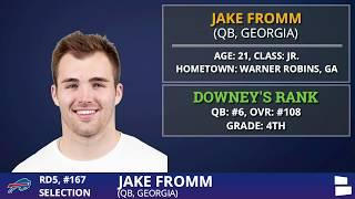 QB Jake Fromm From Georgia Picked By The Buffalo Bills With Pick #168 In 2020 NFL Draft