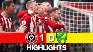 Sheffield United 1-0 Norwich | Premier League highlights | Amazing triple save from Dean Henderson