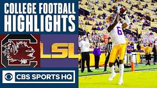 South Carolina vs LSU Highlights: LSU returns first kick for TD | CBS Sports HQ