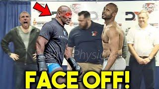 *WOW* MIKE TYSON vs ROY JONES JR *CRAZY* FACE OFF MOMENTS DURING WEIGH INS- BOXING EXHIBITION LIVE