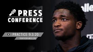 Trayvon Mullen Ready To Play With an Edge, Sees the Talent on the Roster | Las Vegas Raiders