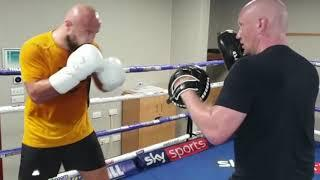 DILLIAN WHYTE'S HEAVYWEIGHT CHARGE (ALEN 'THE SAVAGE' BABIC) DESTROYS THE PADS WITH KEVIN LILLEY