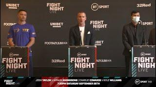 FRANK WARREN & BT SPORT PRESENT - TAYLOR VS KHONGSONG & EDWARDS VS WILLIAMS FULL PRESS CONFERENCE