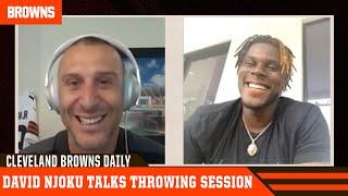 David Njoku talks throwing session with Baker Mayfield, Austin Hooper | Cleveland Browns Daily