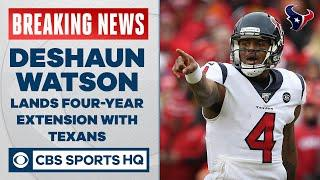 Deshaun Watson lands 4 year extension with Texans making him 2nd highest paid QB | CBS Sports HQ