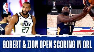 Rudy Gobert & Zion Williamson Trade And-1's To Open Action In Orlando!