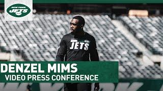 """""""Been Doing Everything I Can To Get Healthy""""   Denzel Mims Press Conference   New York Jets   NFL"""