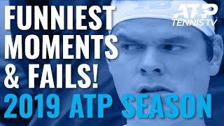 Funny ATP Tennis Moments And Fails 2019!