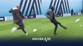 Carlton Cole & James Collins put Jimmy through a reaction shooting drill!  | You Know The Drill