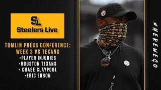 Steelers Live (Sept. 22): Breaking down Coach Mike Tomlin's Press Conference