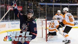 Mika Zibanejad explodes for natural hat trick for Rangers vs. Flyers   NBC Sports