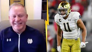 """Brian Kelly Talks Notre Dame Players in LA, """"God made him to play this game of football"""""""