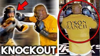 *LEAKED* MIKE TYSON K.O SPARRING PARTNER+ COACH IN OLD SCHOOL TRAINING CAMP (at 54 y.o!)