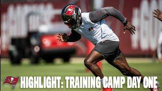 Bucs Training Camp Day One Highlights!