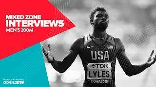 Men's 200m Interviews | World Athletics Championships Doha 2019