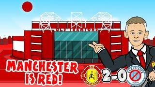 2-0! Manchester is RED! Man Utd vs Man City 2020 (Parody Goals Highlights Song Martial McTominay)