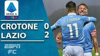 DIVING HEADER by Ciro Immobile lifts Lazio past Crotone | ESPN FC Serie A Highlights