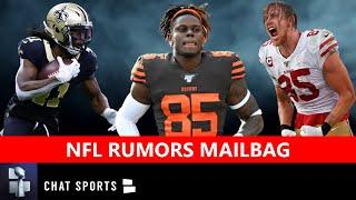 NFL Rumors Mailbag: George Kittle Contract? David Njoku Trade? Alvin Kamara Extension? AB & Seattle?