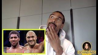 DAVID HAYE REVEALS WHAT WOULD GET HIM OUT OF RETIREMENT, BREAKS DOWN AJ-FURY