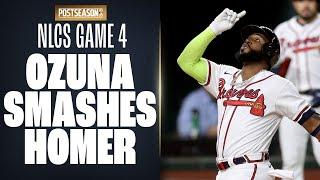Marcell Ozuna SMASHES homer to tie it up for Braves in NLCS Game 4!