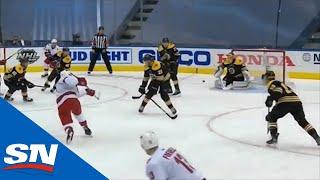 Joel Edmundson Unleashes A Rocket From The High Slot To Beat Tuukka Rask