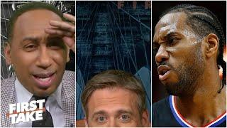 Max hides after his Kawhi-LeBron take & Stephen A. flips out | First Take