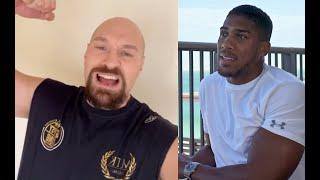 'WE ARE GOING TO SMASH AJ... 3 ROUNDS, DONE!' - TYSON FURY SENDS FIRED UP MESSAGE TO ANTHONY JOSHUA