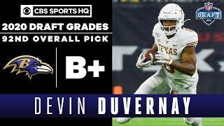 Ravens select a SPEEDSTER in Devin Duvernay with the 92nd overall pick | 2020 NFL Draft