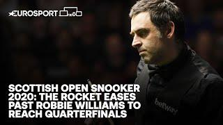 The Rocket eases past Robbie Williams to reach Quarter-finals |Scottish Open Snooker 2020 |Eurosport