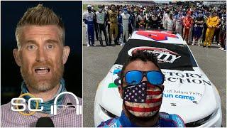 Marty Smith reacts to NASCAR backing Bubba Wallace with a show of unity   SC with SVP