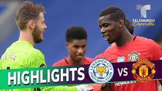 Highlights & Goals | Leicester City vs. Manchester United 0-2 | Telemundo Deportes