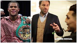 """""""YOU'RE NOT UNDISPUTED CHAMPION!"""" EDDIE HEARN TELLS TEOFIMO LOPEZ IN DEBATE OVER WBC FRANCHISE/HANEY"""