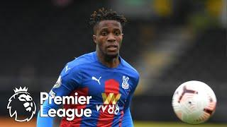 Wilfried Zaha slides in to give Crystal Palace 2-0 lead against Fulham | Premier League | NBC Sports