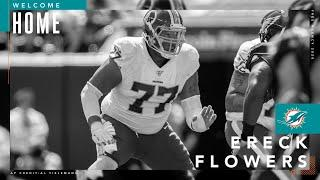 Ereck Flowers is excited to get back home to Miami. | Miami Dolphins