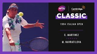 Conchita Martinez v. Martina Navratilova | Full Match | 1994 Italian Open