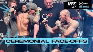 UFC 257 Ceremonial Weigh-Ins and Face-offs! Poirier and McGregor face-to-face!
