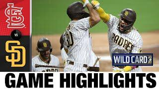 Padres make HUGE comeback with HRs from Tatis, others | Cardinals-Padres Game 2 Highlights 10/1/20