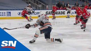Josh Archibald Scores A One-Timer From A Slick Connor McDavid Pass