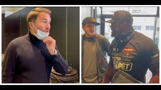 'IF YOU PUT IT ON ME NOW, I'D S*** MYSELF' - EDDIE HEARN TELLS DEL CHISORA WHO SAYS -'YOU SET ME UP'