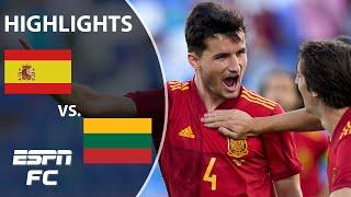 Spain's U-21 side defeats Lithuania 4-0 in Euro 2020 tune-up | Highlights | ESPN FC