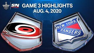NHL Highlights | Hurricanes vs. Rangers, Game 3– Aug. 4, 2020