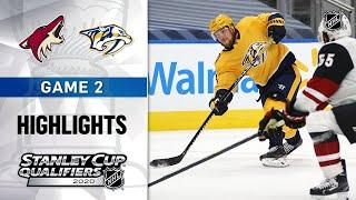 NHL Highlights | Coyotes @ Predators, GM2 - Aug. 4, 2020