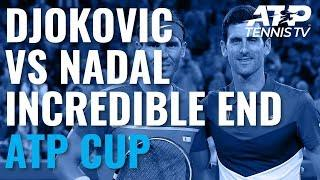 Novak Djokovic vs Rafael Nadal: Incredible End To Match! | ATP Cup 2020 Final