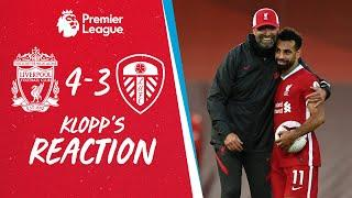Klopp's Reaction: Offensively, good, defensively, we can improve   Liverpool vs Leeds Utd