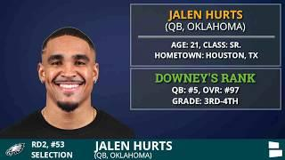 Philadelphia Eagles Draft QB Jalen Hurts of Alabama #53 Overall In The 2nd Round Of 2020 NFL Draft