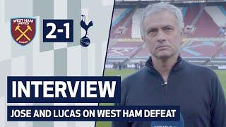 INTERVIEW | Jose Mourinho and Lucas Moura on West Ham defeat