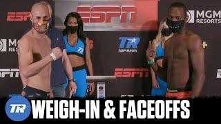 Pedraza vs LesPierre: Weigh-In & Faceoffs