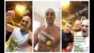 'F****** SMASHED 13 ROUNDS OF PADS' - TYSON FURY (WITH JOHN FURY) REVEALS LEANER PHYSIQUE