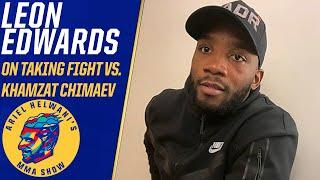 Leon Edwards says he's been promised title shot with win vs. Khamzat Chimaev | ESPN MMA