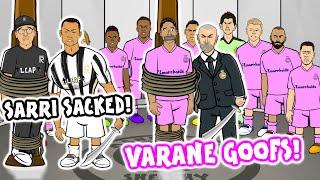 Varane Mistakes! Sarri Sacked! (Champions League Parody Man City vs Real Madrid Juventus Lyon)